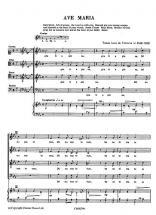 Victoria Tomas Luis (de) - Ave Maria - Chorale Satb, Piano