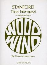 Three Intermezzi Op.13 For Clarinet And Piano - Clarinet