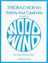 Boehm Theobold - 24 Capriccios For Solo Flute - Flute