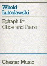 Lutoslawski W. - Epitaph - Hautbois & Piano