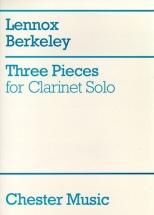 Berkeley Lennox - Three Pieces For Clarinet Solo - Clarinet