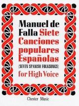 De Falla M.  -  Siete Canciones Populares Espanolas  - Voix Haute