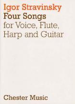 Stravinsky Igor - Four Songs - Voice, Flute, Harp And Guitar
