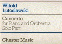 Lutoslawski Witold - Concerto For Piano And Orchestra - Piano Solo
