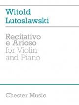 Lutosawski Witold - Recitativo E Arioso - For Violin And Piano