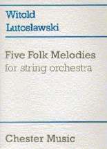 Five Folk Melodies For String Orchestra - Full Score