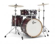 Gretsch Drums Cm1-e825-sdcb - Catalina Maple 2014 Fusion Rock 22-10-12-16tb-14x6.5 Satin Deep Cherry Burst