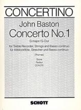 Baston John - Concerto No.1 G Major - Score