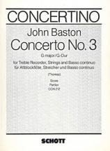 Baston John - Concerto No.3 G Major - Score