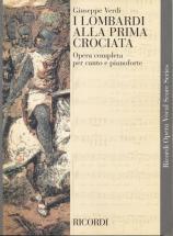 Verdi G. - I Lombardi Alla Prima Crociata - Chant Et Piano