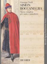 Verdi G. - Simon Boccanegra - Chant Et Piano