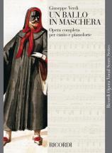 Verdi G. - Un Ballo In Maschera - Chant Et Piano