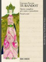 Puccini G. - Turandot  - Chant Et Piano