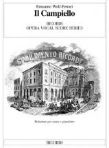 Wolf - Ferrari E. - Il Campiello - Chant Et Piano