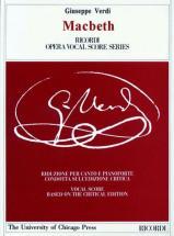 Verdi G. - Macbeth. Testo Italiano - Chant Et Piano