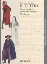 Puccini G. - Trittico - Brochure - Chant Et Piano