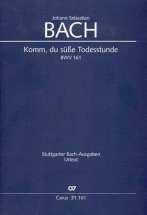Bach J.s. - Cantate Bwv 161 Komm, Du Susse Todesstunde - Set Parties Separees