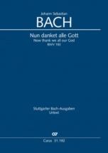 Bach J.s. - Nun Danket Alle Gott (bwv 192) - Chant-piano
