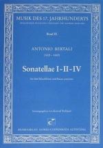 Carus Bertali A. - Sonatella I-ii-iv - 5 Flûtes A Bec