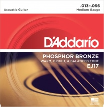 D\'addario Ej17 Phosphor Bronze Medium 13 56