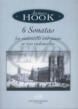 Hook J. - 6 Sonatas - Violoncelle Et Piano