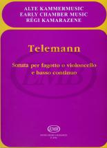 Telemann G.p. - Sonata Mi - Basson Et Piano