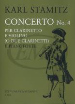 Stamitz K. - Concerto N. 4 En Si - Clarinette Et Piano