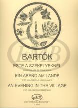 Bartok B. - Evening In The Village - Violoncelle Et Piano