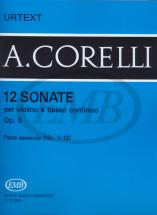Corelli A. - Sonate (12) Op. 5 Vol. 2 - Violon Et Piano