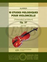 Kummer - 10 Etudes Melodiques Op.57 - Violoncelle