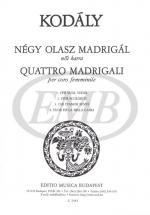 Kodaly Z. - Madrigali (4) - Choeur