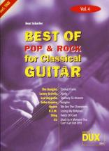 Best Of Pop and Rock For Classical Guitar Solf. and Tab Vol.4