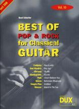 Best Of Pop and Rock For Classical Guitar Solf. and Tab Vol.10