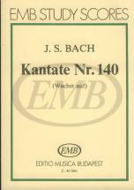 Bach J.s. - Cantata N.140 Wachet Auf Ruft Uns Die Stimme - Conducteur Poche