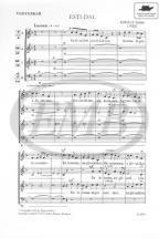 Kodaly Z. - Esti Dal - 4 Voix Mixtes