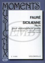 Faure G. - Siciliana Op. 78 - Violoncelle Et Piano