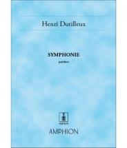Dutilleux - Symphonie N 1 - Conducteur Poche
