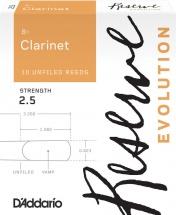 D\'addario - Rico Dce1025 - Anches Clarinette Sib Reserve Evolution, Force2,5 (pack De10)