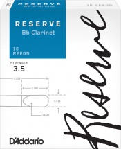 D\'addario Woodwinds Anches Reserve Clarinette Si Bemol Force 3.5 Pack De 10