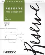 D\'addario Woodwinds Anches Reserve Saxophone Alto Force 2.5 Pack De 10