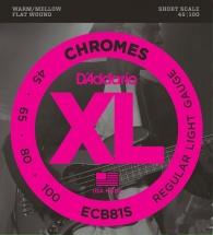 D\'addario Ecb81s Chromes Filet Plat Short Scale 45-100