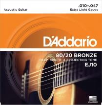 D\'addario Ej 10 Bronze 80/20x Light 10 47