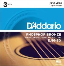D\'addario Pack De 3 Jeux Ej16 12 16 24 32 42 53