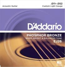 D\'addario Ej26 Jeu Phosphore Bronze Custom Light