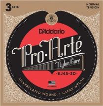 D\'addario Pack De 3 Jeux Ej45 Pro Arte Tension Normale