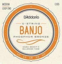 D\'addario And Co J55 Jeu De Corde Pour Banjo