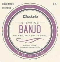 D\'addario And Co Ej57 Cordes Pour Banjo