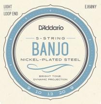 D\'addario And Co Ej60ny Cordes Pour Banjo 9-20 Light