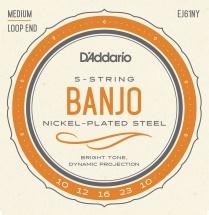 D\'addario And Co Ej61ny Cordes Pour Banjo 10-23 Medium