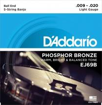 D\'addario And Co Ej69b Cordes Pour Banjo